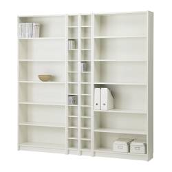 BILLY/BENNO bookcase combination, white Width: 200 cm Min. depth: 17 cm Max. depth: 28 cm