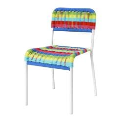FÄRGGLAD children's chair, indoor/outdoor multicolor, multicolor
