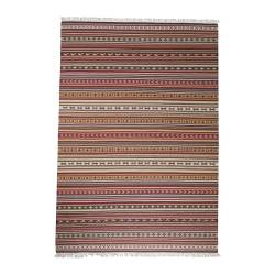 "KATTRUP rug, flatwoven, multicolor, red handmade red Length: 6 ' 7 "" Width: 4 ' 7 "" Area: 30.14 sq feet Length: 200 cm Width: 140 cm Area: 2.80 m²"