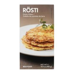 RÖSTI potato fritters, frozen Net weight: 16.9 oz Net weight: 480 g