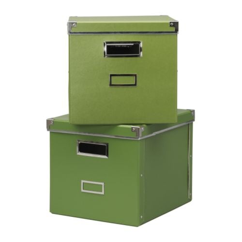 2 x ikea kassett expedit bookcase storage boxes green ebay. Black Bedroom Furniture Sets. Home Design Ideas