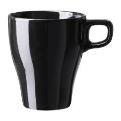 FÄRGRIK mug, stoneware black Height: 11 cm Volume: 25 cl