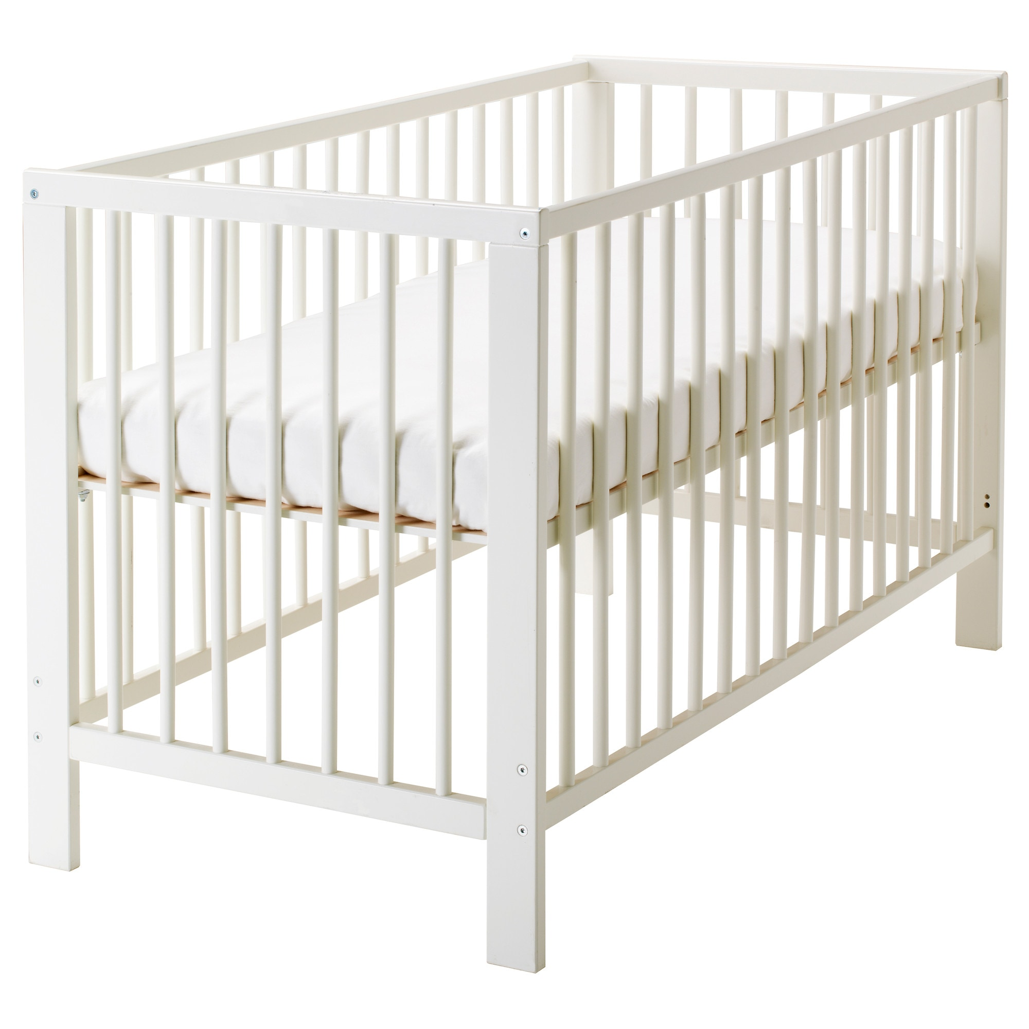 Baby bed extension uk - Gulliver Crib White Length 53 1 2 Width 29 1