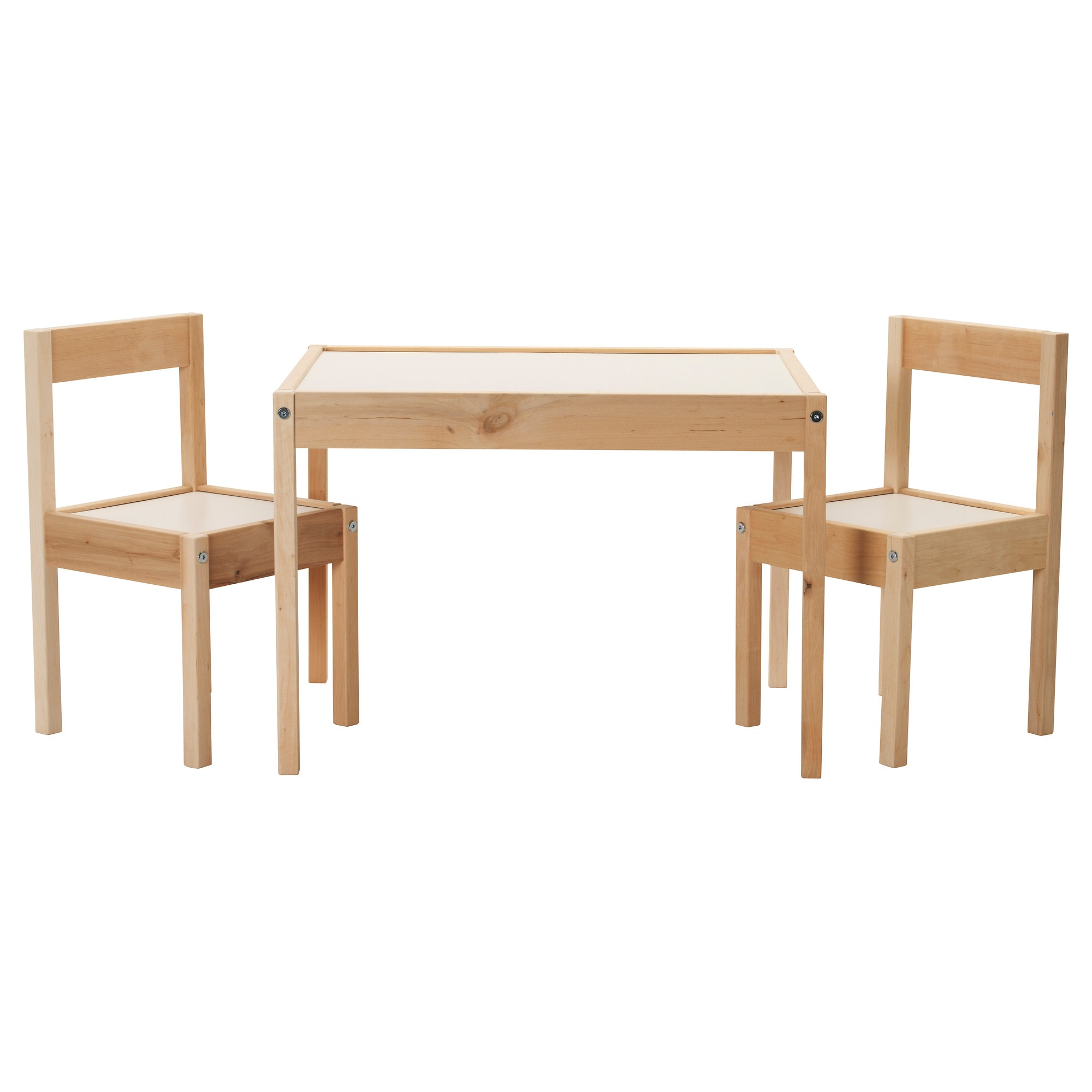 ltt table and 2 chairs white pine table length 24 3