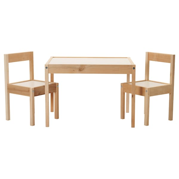 l tt table et 2 chaises enfant blanc pin ikea. Black Bedroom Furniture Sets. Home Design Ideas