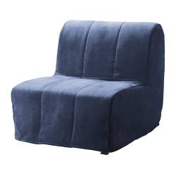 LYCKSELE chair-bed cover, Henån blue
