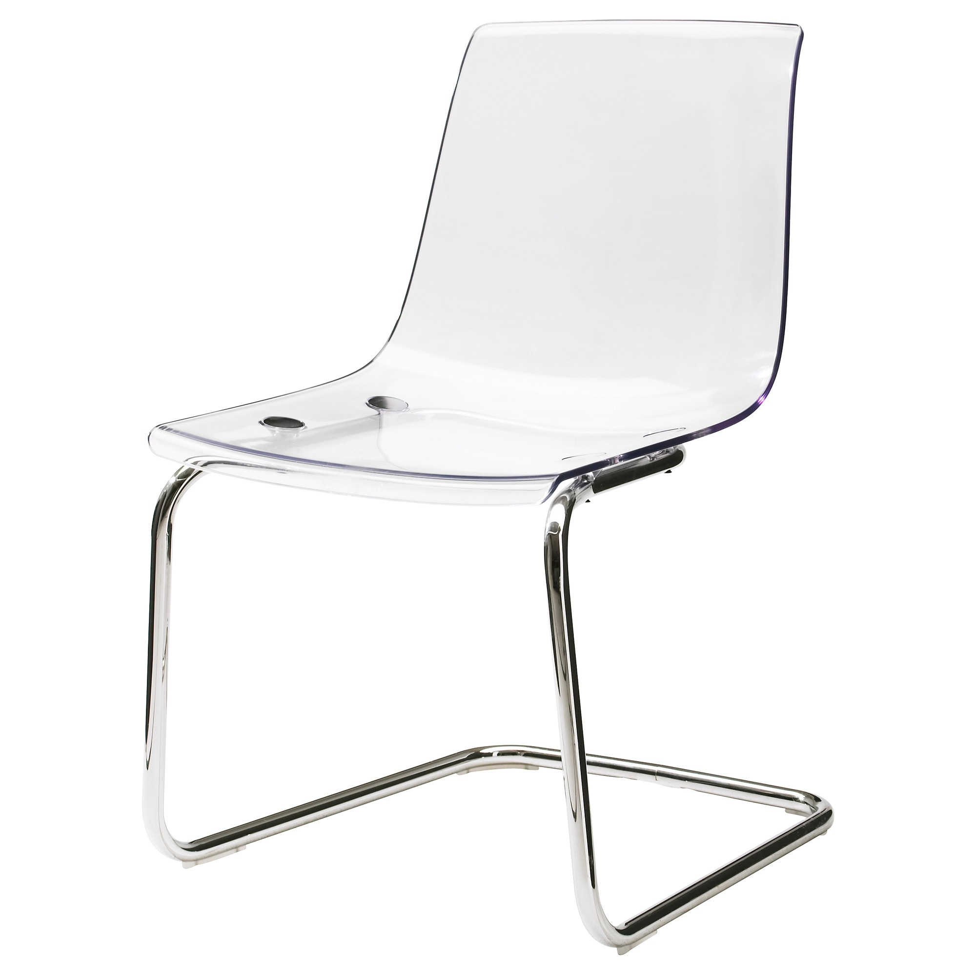 Black chair and white chair - Tobias Chair Clear Chrome Plated Tested For 243 Lb Width 21 5