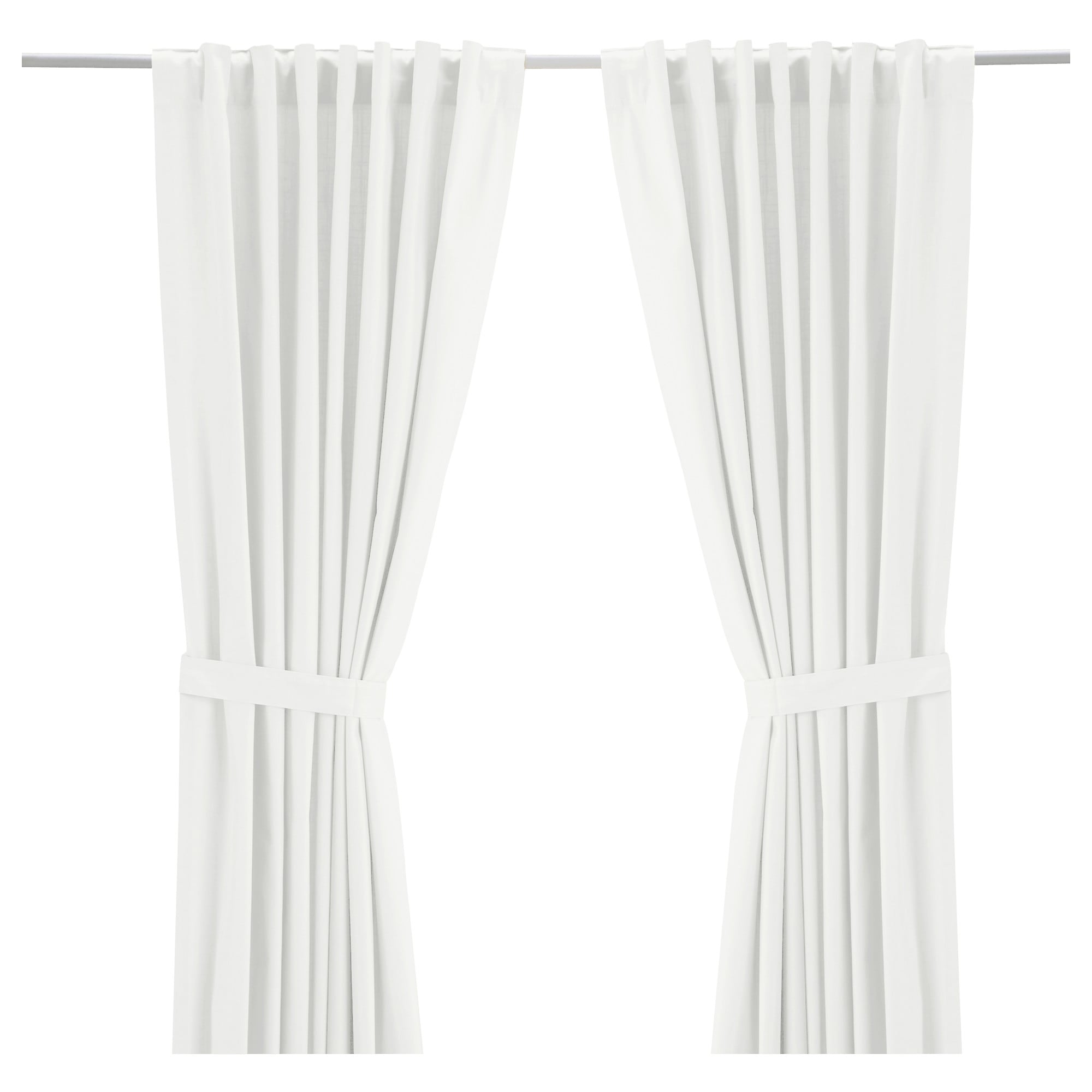 "RITVA Curtains with tie-backs, 1 pair - 57x118 "" - IKEA for Off White Bedroom Curtains  199fiz"