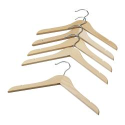 HÄNGA children's coat-hanger, natural Package quantity: 5 pack