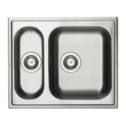 "BOHOLMEN inset sink 1 1/2 bowl, stainless steel Length: 23 5/8 "" Depth: 19 5/8 "" Height: 7 1/8 "" Length: 60 cm Depth: 50 cm Height: 18 cm"
