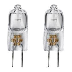 HALOGEN bulb G4 standard Power: 10 W Package quantity: 2 pack Voltage: 12 V