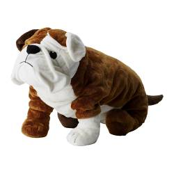 "KLUMPIG soft toy, white, dog brown Length: 21 ¾ "" Length: 55 cm"