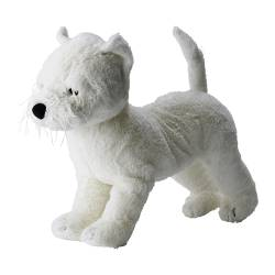 "RUFFIG soft toy, white, dog Length: 15 ¾ "" Length: 40 cm"