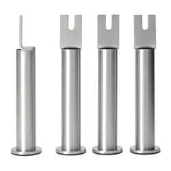 SULTAN leg, stainless steel Diameter: 6.0 cm Building height: 20 cm Package quantity: 4 pack