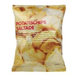 POTATISCHIPS SALTADE salted potato chips Net weight: 5 oz Net weight: 150 g