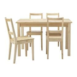 BJÖRKUDDEN/ BERTIL table and 4 chairs, birch
