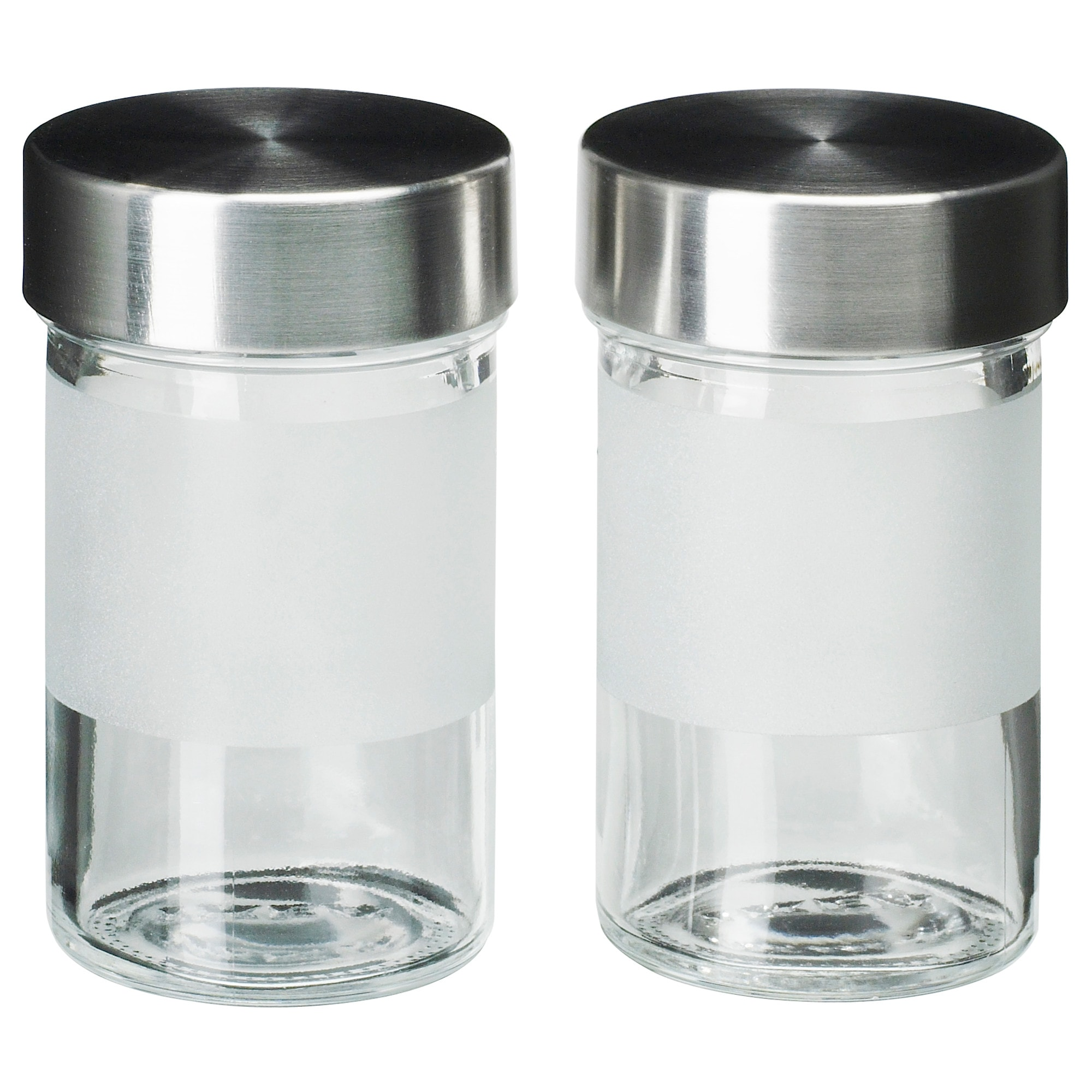 Stainless steel storage containers for kitchen - Droppar Spice Jar Frosted Glass Stainless Steel Height 4 Diameter 2