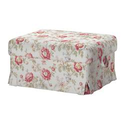 EKTORP cover footstool, Byvik multicolour