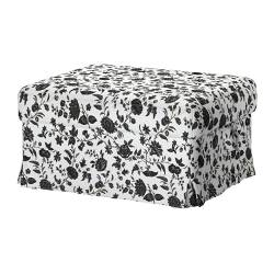 EKTORP cover footstool, Hovby white/black