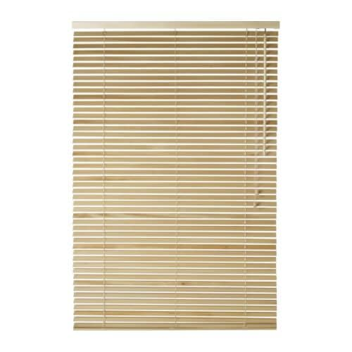 ikea lindmon wooden venetian blinds new 10 sizes ebay. Black Bedroom Furniture Sets. Home Design Ideas