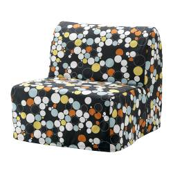 LYCKSELE chair-bed cover, Bålsta multicolour