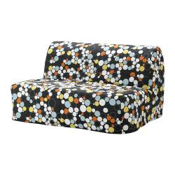 LYCKSELE MURBO two-seat sofa-bed, Bålsta multicolour Width: 142 cm Depth: 100 cm Height: 87 cm