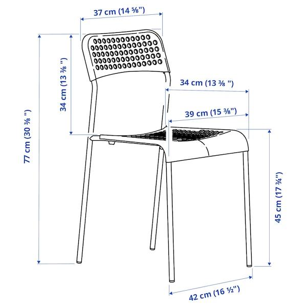 ADDE كرسي, أبيض