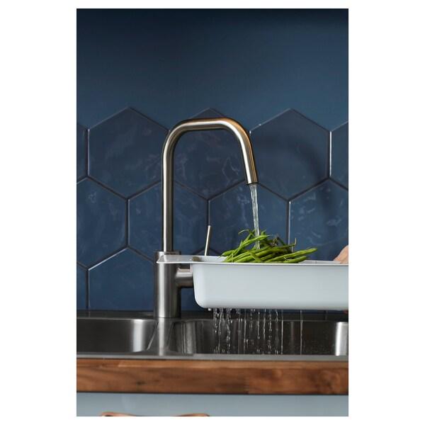 ÄLMAREN حنفية خلاط مطبخ, لون الستانليس ستيل.