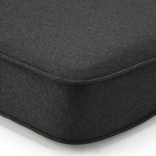 ÄPPLARÖ وحدة كنب بمقعدين، خارجي, صباغ بني/Järpön/Duvholmen فحمي, 160x80x86 سم