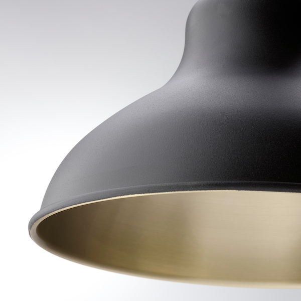 AGUNNARYD Pendant lamp with 3 lamps, black