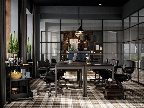 ALEFJÄLL كرسي مكتب, Glose أسود