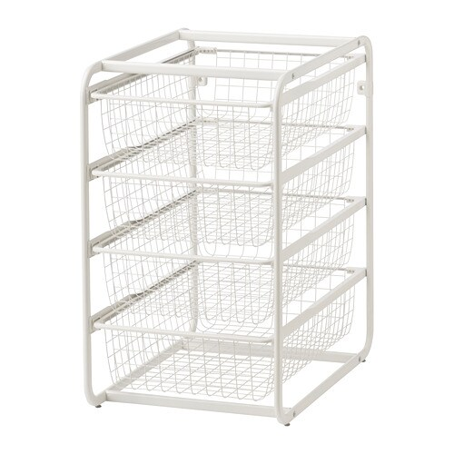 algot frame with wire baskets