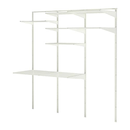 ALGOT Wall upright/shelves/drying rack IKEA You can build ALGOT in many ways to suit different things and spaces.