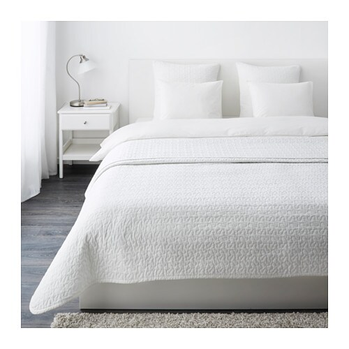 ALINA Bedspread and 2 cushion covers IKEA Extra soft since the bedspread and cushion cover are quilted.