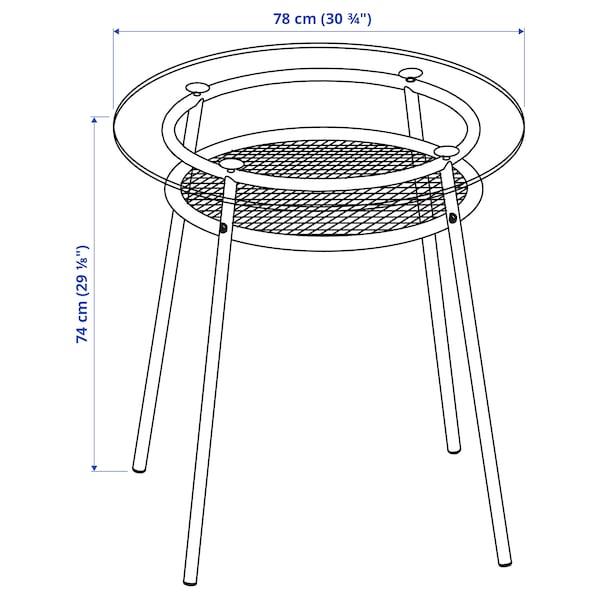 ALLSTA طاولة, زجاج/معدن أسود