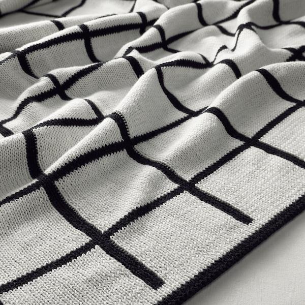 ALMALIE Throw, black/white, 130x170 cm