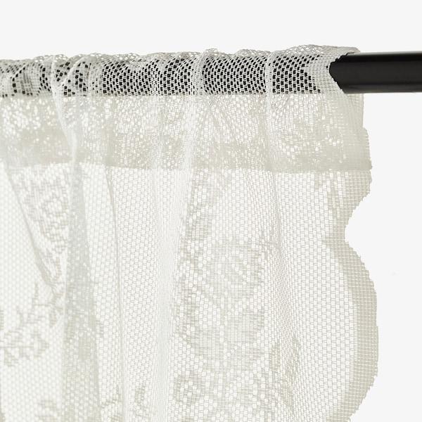 ALVINE SPETS ستائر شبكية، 1 زوج, أبيض-عاجي, 145x300 سم