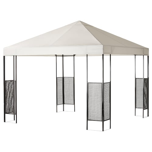 AMMERÖ gazebo dark brown/beige 300 cm 300 cm 260 cm
