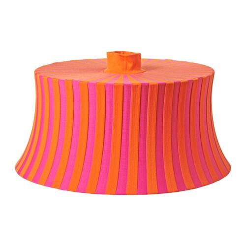 ÄMTEVIK Lamp shade, orange, pink striped