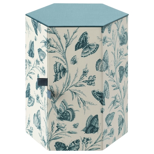 ANILINARE decoration box green/butterfly paper 16 cm 14 cm