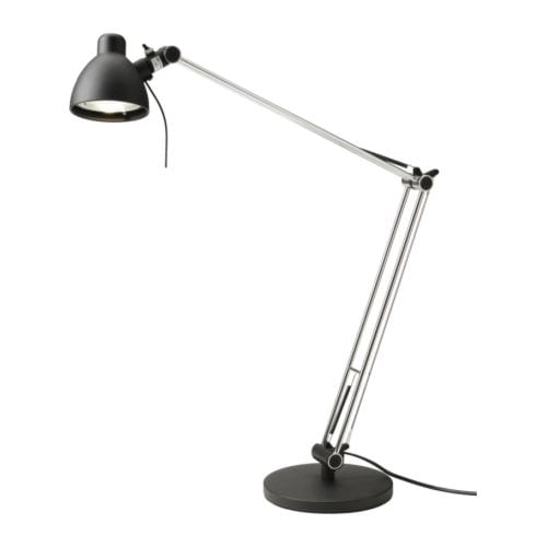 ANTIFONI Work lamp IKEA Adjustable arm and head for easy directing of light.