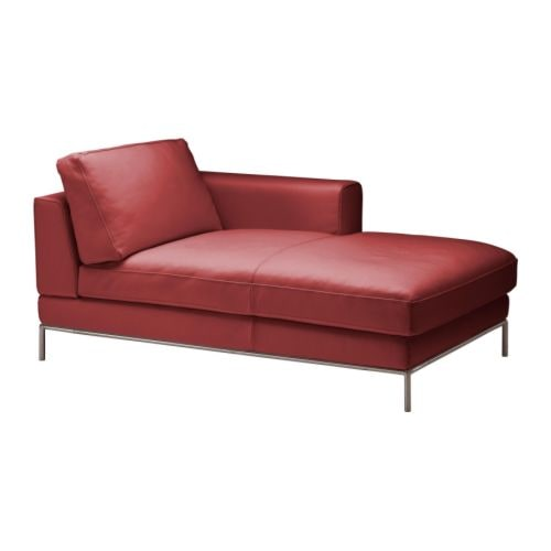 Leather chaise longues leather sofas ikea for Arild chaise longue