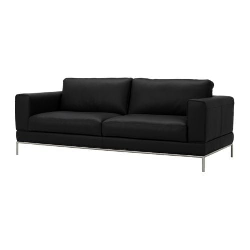 ARILD Three-seat sofa IKEA Seat surfaces and armrests in heavy, hardwearing, easy care grain leather; practical for families with children.