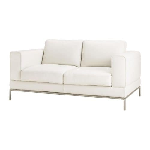 Arild two seat sofa karakt r bright white ikea for Canape cuir blanc ikea
