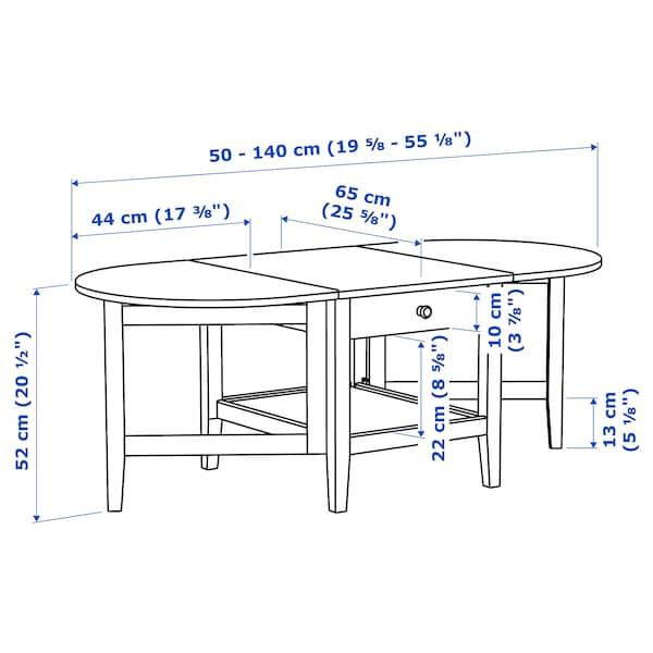 ARKELSTORP طاولة قهوة, أسود, 65x140x52 سم