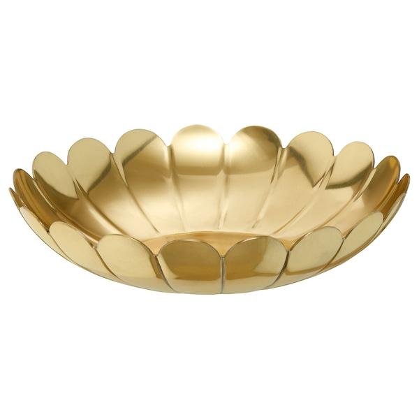 AROMATISK Decorative bowl, gold-colour, 25 cm