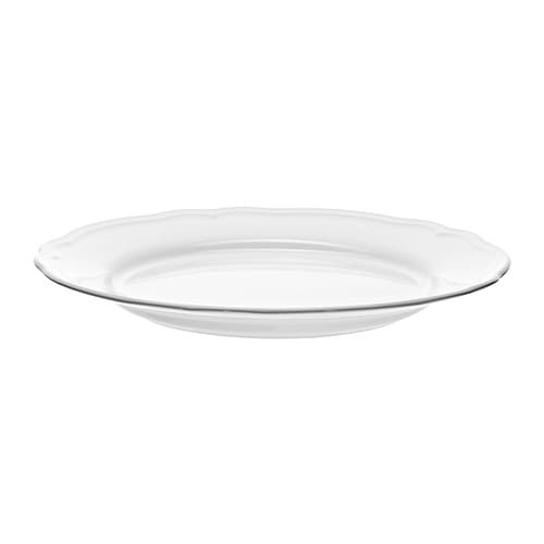 ARV Plate IKEA Dinnerware that combines a simple, rustic design with a soft ruffled edge.