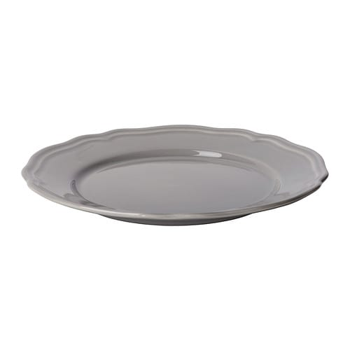ARV Side plate IKEA Dinnerware that combines a simple, rustic design with a soft ruffled edge.