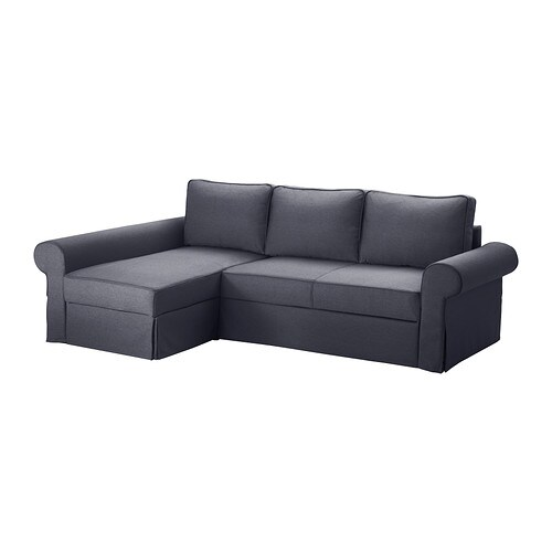 Backabro marieby sofa bed with chaise longue jonsboda for Chaise longue double sofa bed