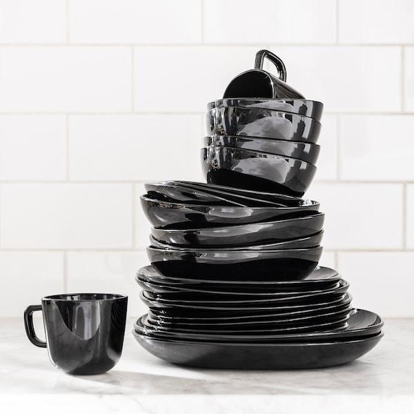 BACKIG Bowl, black, 14 cm